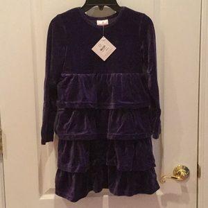 Brand New Hanna Andersson Girls Purple Dress Size8